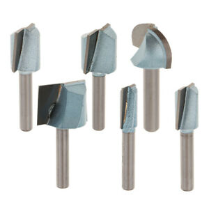 6x Bottom Cleaning Router Bit 1 4 Shank Cnc Grooving Bit Milling Cutter Tool