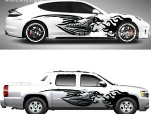 1set Flame Dragon Car Auto Truck Vinyl Graphics Side Stickers Body Decal Generic