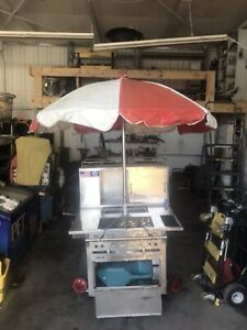 All American Hot Dog Cart Used In Good Condition 2 Burner Warmer