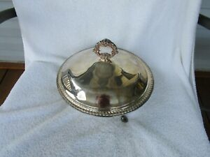Vintage 1883 F B Rogers Silver Plate Footed Chafing Serving Dish W Lid 1158