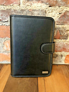 Franklin Covey Day One Planner Black Classic Organizer W inserts 7 Ring
