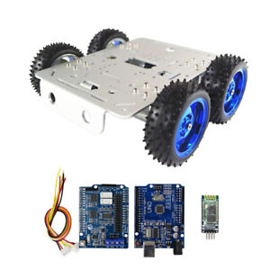 Smart Motor Robot Chassis Kit Bluetooth Driver Kit Battery Box For Arduino