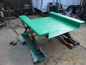 Hydraulic Lift Complete W Pump Assembly 2500 Lb Lifts From Zero 32 Mfg usa