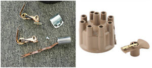 For Mopar cast Iron Prestolite Dual Point Distributor Kit Tan Cap