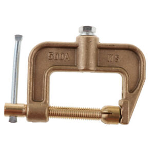 C clamp Ground Welding 500a Earth Clamp 0 43kg Full Brass For Woodworking