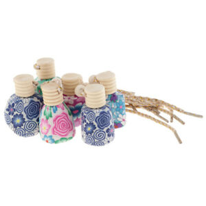 6piece Car Home Decoration Air Freshener Perfume Soft Clay Bottle Hanging