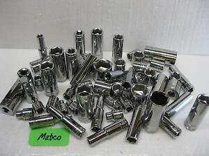 Matco Silver Eagle Tools 3 8 Drive Sockets Metric And Sae Sold Each Nice