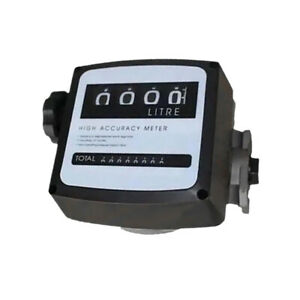 4 bit Digital Diesel Fuel Oil Flow Meter Gallon Counter Meter 1 1