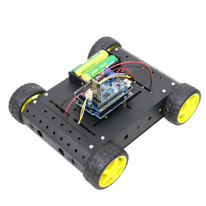 Smart Robot Kit Aluminum Alloy Chassis Motor With Wheel 1 To 120