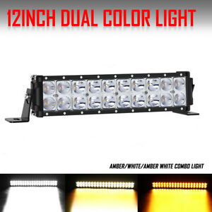 10inch 80w Led Light Bar Work Spot Flood Combo Beam Amber White 4wd Car Atv 12