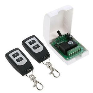 Wireless Rf Switch Dc 12v Relay Receiver Module 2 Transmitter 1 Receiver
