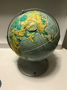 Vtg Nystrom Dual Rotating Axis Readiness Globe 12 Raised Relief Ussr