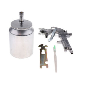 Air Compressor Spray Gun Car Wall Painting Tool 1000ml Pot Nozzle Dia 2mm