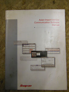 Snap On Asian Import Vehicle Communication Software Manual 2005