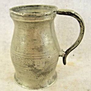 Very Rare American Pewter A Gill Measure Boardman Group