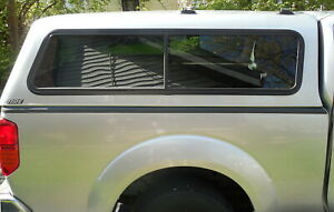 Are A r e Brand Locking 6 Bed Truck Cap W dual Sliding Windows Ladder Mounts