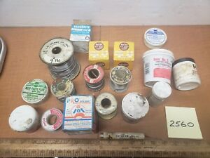 Soldering Wire Lot Various Vintage Solder Flux Solder Paste 13 Lbs 8oz Total