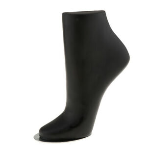 Unisex Pvc Mannequin Foot Anklet Sock Display Small Black