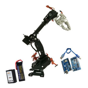 Wireless 8 Dof Robot Arm Gripper Kit High 3316 Servo Power Suite Black