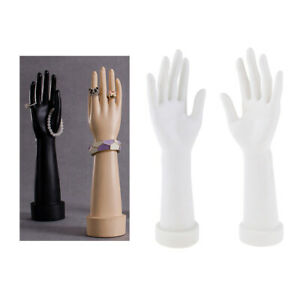 1 Pair Mannequin Hand Arm Display Base Female Gloves Jewelry Model White