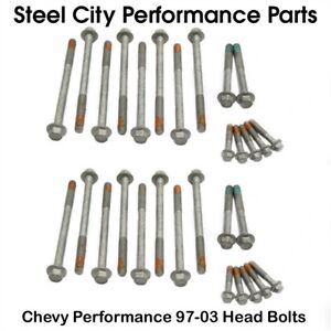 Chevy Performance 97 03 Ls Cylinder Head Bolts Kit 4 8 5 3 5 7 6 0