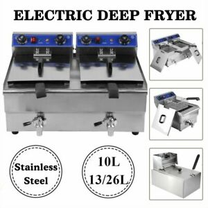 10 13 26l Electric Deep Fryer Countertop Home Commercial Restaurant Tool Mx