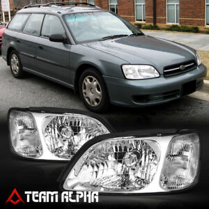 Fits 2000 2004 Subaru Legacy Chrome Clear Crystal Corner Headlight Headlamp Lamp