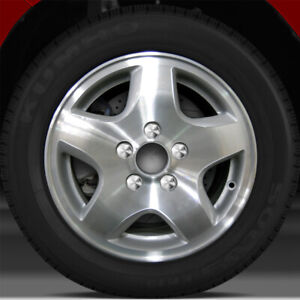 15x6 5 Factory Wheel fine Metallic Silver For 1998 2000 Honda Accord