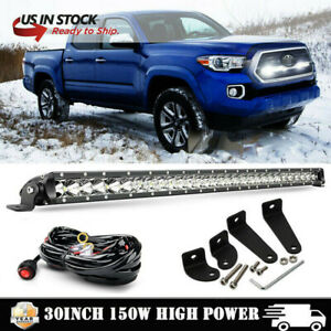 150w 30 Behind Grille Led Light Bar Wiring Kit For 2016 up Toyota Tacoma