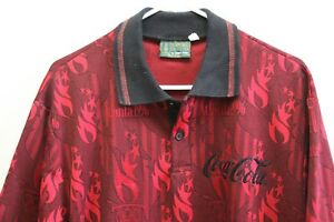 Vintage Coca Cola 1996 Olympic Games Polo Shirt Sz XL 1996 Made in USA High Five
