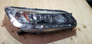 2013 2014 2015 Honda Accord Touring Right Pass Side Led Headlight 33100 T2a A51