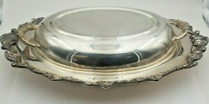 Exquisite Vintage Sheridan Silverplate Covered Casserole Dish