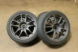Jdm Work Emotion 18 Wheels 18x7 5 Rims Set 5x100 And Tires