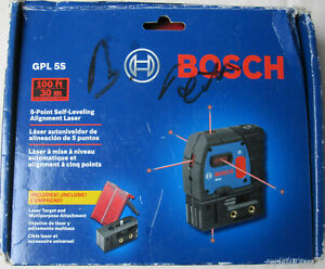 New Bosch Gpl 5s 5 point Self leveling Alignment Laser