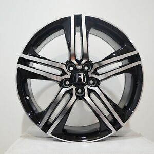 19 Inch Black Machined Rims Fits Honda Accord V6 2000 2002 4 Wheels