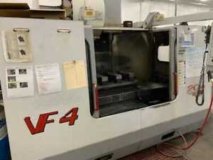 Used Haas Vf 4 Apc Cnc Vertical Machining Center Mill W Pallet Changer 10k Rpm