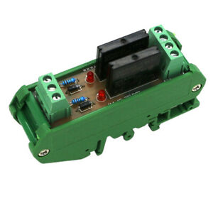 Solid State Relay Module Driver Board High Level Trigger 2 Ch With Base 24v