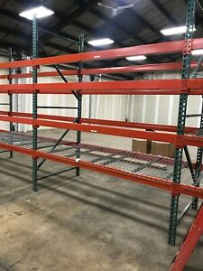 Used Tear Drop Upright For Pallet Racking 48 d X 120 h