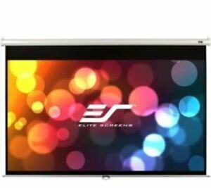 Elite Screens Manual Pull Down 4 3 Ratio 80in Projector Screen New In The Box