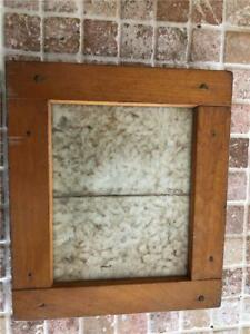 Antique Wood Picture Frame Very Unique 6 3 4 X 5 3 4 Mission Style