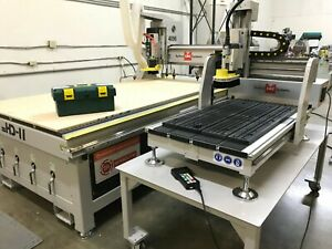 Techno Hd ii Tabletop 2136 Cnc Router Vacuum Table T slot Hsd Spindle Enroute
