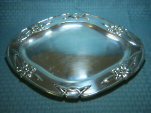 Large Antique Austrian Austro Hungarian Sterling Silver 800 Tray 640 Grams