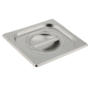 1 6 Silver Lid For Stainless Steel Hotel Steam Table Pans