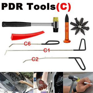 Auto Body Paintless Dent Repair Removal Dent Rod Car Tools Pen Heads Tool c Kit