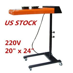 220v 20 X 24 Double Fan Temperature Controller Flash Dryer For Screen Printing