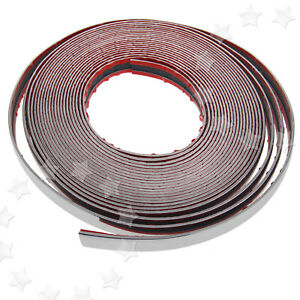 20mm X 49ft Chrome Styling Moulding Trim Strip For Cars Vans Vehicles