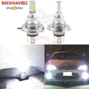 9003 H4 Cree Tech Led Headlights Bulbs Kit High Low Beam 35w 4000lm 6000k White