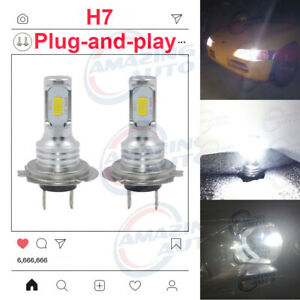 H7 Led Headlights Bulbs Kit High Low Beam 35w 4000lm Super Bright 6000k White