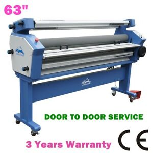 63 Full auto Cold Laminator Heat Assisted Wide Format Lamination
