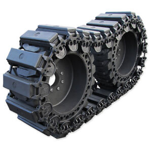 Prowler 12 Inch Fusion Rubber Skid Steer Over The Tire Tracks Ott 12x16 5